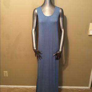 NWT Z Supply blue sleeveless high slit maxi dress